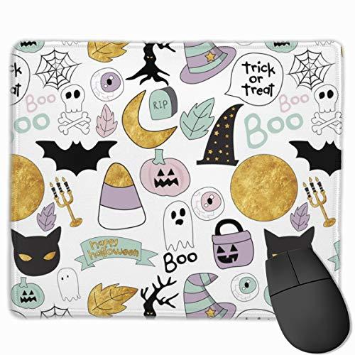 Pastel Halloween_73667 Mouse pad Custom Gaming Mousepad Nonslip Rubber Backing 9.8