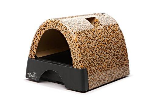 Litter-Robot 10108 Kitty A GOGO Designer Kitty Litter Box, Leopard (Leopard Kitty)