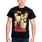 Preacher Camiseta Personajes Negro Algodón - XXL