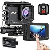 WiMiUS Caméra Sport à écran Tactile Ultra HD 4K WiFi 16MP Caméra étanche 170 ° Grand Angle Deux Batterie 1050mAh Boîtiers étanches 2.4G Télécommande et kit d'accessoires (AI8000)