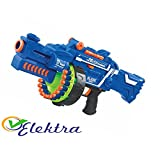 Elektra Blaze Storm Soft Bullet Automatic Gun, 40 Darts Included, Blue