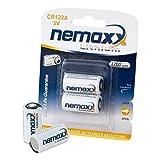 Nemaxx 3V Photo Lithium Batterie CR123A Photobatterie Fotobatterie mit 1700mAh  im 2er Pack (1x Blister)