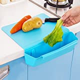 Swiftswan 2 in 1 Kitchen Cutting Board with Slot, Creative Non-Slip Folding Cutting Board Antibacteria Chopping Board Cooking Mat