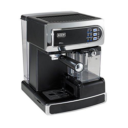 Preisvergleich Produktbild BEEM Germany i-Joy Café Ultimate 20 bar, Espresso-Siebträgermaschine mit 20 bar und integriertem Milchaufschäumer, chrom-schwarz