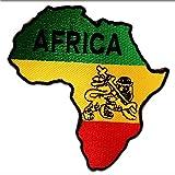 Aufnäher / Bügelbild - Afrika Flagge Fahne - gelb - 8,5 x 9 cm - Patch Aufbügler Applikationen zum aufbügeln Applikation Patches Flicken
