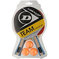 Dunlop Team 2 Player Set Table Tennis Set (2 Bats and 3 Balls) by