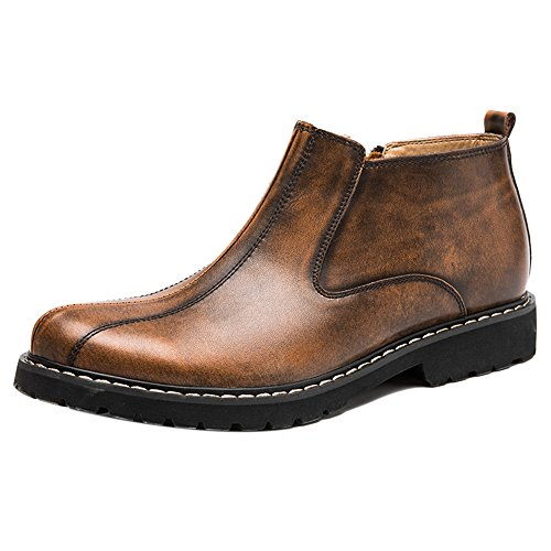 Coolcept Men Chukka Boots Slip On Shoes (44 AS, Black)