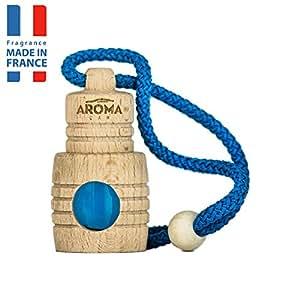 Aroma Car Air Freshener Scent Fragrance Intenso Eco Aqua Blue Hanging Wood