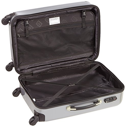 HAUPTSTADTKOFFER - Alex - 2er Koffer-Set Hartschale glänzend, TSA, 65 cm + 55 cm, 74 Liter + 42 Liter, Orange-Aubergine Silber