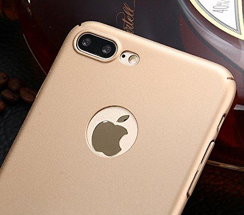 EKINHUI Case Cover Für Apple IPhone 7 Plus Rückseiten-Abdeckung, dünner dünner heller Sand-mattierter Matt-Ende Vollkörper-schützender Abdeckungs-Shell-Fall mit Finger-Ring-Standplatz ( Color : Black  Black