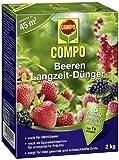 COMPO Beeren Langzeit-Dünger, hochwertiger Spezial-Langzeitdünger, für alle Arten von Beeren, Strauch-Obst und Obstbäume, 2 kg