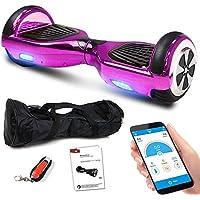 Smartway Balance Scooter 6, 5 Zoll 600W-Motion V.5 mit App Funktion, Bluetooth Lautsprecher, Kinder Sicherheitsmodus, Elektro Self Balance E-Scooter, 600 Watt
