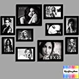 Wall Frame Set of 10 Photo Frame in Blac...