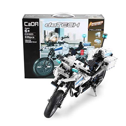 539 stück Motorrad Bausteine Kreative Ziegel Box Elektrische Puzzle Montage DIY Beste Spielzeug Früherziehung für Jungen Mädchen