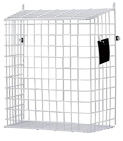 DWD Large White Letter Box Door Cage Guard Protect Mail Post Dog Cat Proof, Fits all doors & Letter Box size of 30cm wide by DWD