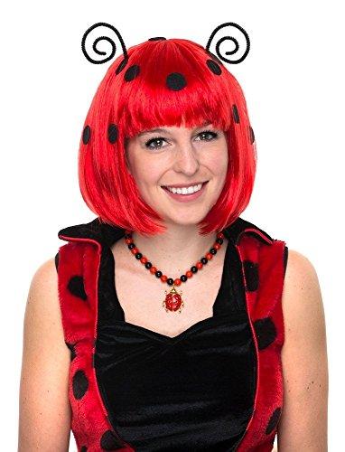 Das Kostümland Perücke zum Marienkäfer Kostüm mit Fühlern -