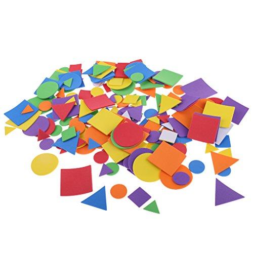 MagiDeal 200 Piezas Etiquetas Engomadas en Forma de Geométrica de Bricolaje para Colección de Recortes DIY