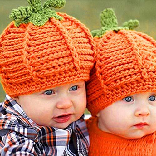 ostenloser Versand Neugeborene Baby Kürbis Gap Knit Hat Kostüm Fotografie propu ()