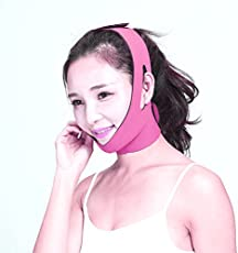 Alexvyan Women's Anti Ageing Beauty Face Slimming Lift Up Lifting V Line Belt Strap (Pink2, Free Size)