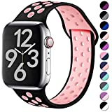 Hamile Correa para Apple Watch 42mm 44mm, Doble Color Pulsera de Repuesto de Silicona Suave...