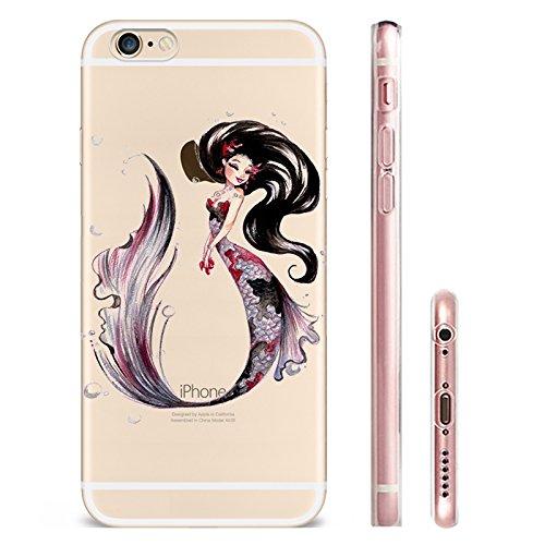 IPHONE 6splus Hülle Meerjungfrau Ananas Liebe Muster TPU Silikon Schutzhülle Handyhülle Case - Klar Transparent Durchsichtig Clear Case für iPhone 6splus MRY4