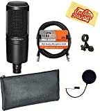 Best Audio-Technica Pop Filters - Audio-Technica AT2020 Cardioid Condenser Microphone Bundle with Pop Review