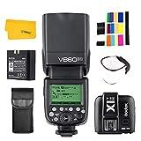 Godox Ving V860II-N 2.4G TTL Li-on batteria fotocamera Flash Speedlite + Godox X1T-N trigger per Nikon D700 D300S D810 D610 D90 (V860II-N + X1T-N)