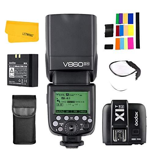 Godox Ving V860II-N 2.4G TTL Li-on Akku Kamerablitz Speedlite mit X1T-N Blitzauslöser für Nikon D800 D5200 D300 (V860II-N + X1T-N)