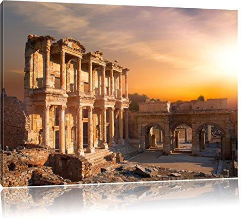 alte Tempelruine, Format: 120x80 auf Leinwand, XXL riesige Bilder fertig gerahmt mit Keilrahmen, Kunstdruck auf Wandbild mit Rahmen, günstiger als Gemälde oder Ölbild, kein Poster oder Plakat -