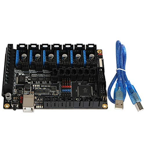 FYSETC 3D-Drucker Mainboard, Original F6 Motherboard ALL-in-one Elektronik-Controller bis zu 6 Motor-Treiber mit einfachen Mikro-Schritten VS SKR V1.3 für Reprap Wanhao i3 Prusa i3 Anet A8 CNC (Flash Maker Card)