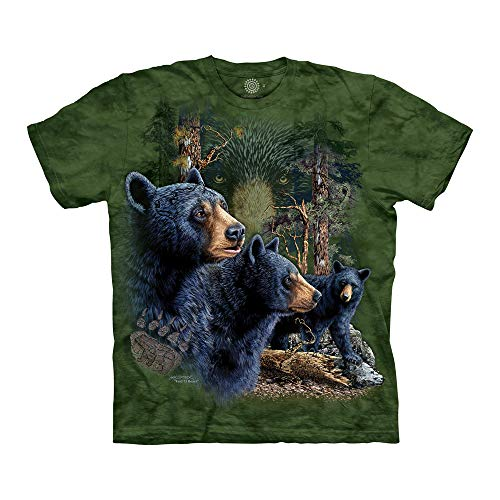 The Mountain Unisex-Erwachsene Find 13 Black Bears T-Shirt, grün, X-Groß