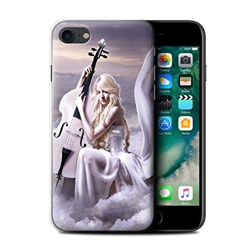 Officiel Elena Dudina Coque / Etui pour Apple iPhone 7 / Beauté/Violon Design / Réconfort Musique Collection Violoncelle/Nuages