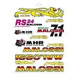 Hoja de adhesivos Malossi variados - 24,7x35 cm 33 9779