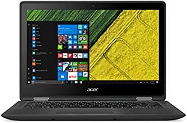 "Acer Spin 5 SP513-51-54F6 Notebook, Processore Intel Core I5-7200U, Display da 13.3"", Windows 10 Home, Nero"