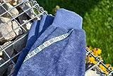 Knickerbocker blau jeansfarben, aus Bio-Baumwolle, 74 80 (6-12 Monate), dunkelblau, bequem mit langen Bündchen, Mädchen, Jungen, Kinder, modisch, trendy, Maritim, Geschenk