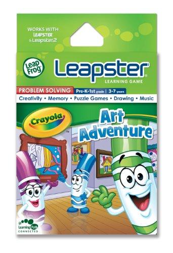 LeapFrog Leapster Educational Game Cartridge Crayola Art Adventure version anglaise
