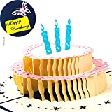 Carta spiritz 3d pop-up torta di compleanno biglietto set da 6personalizzato stampa artigianale taglio laser cartoline con bianco busta coordinata per lui o lei o il bambino (6PC) Marca: carta spiritz Colore: Peso: 174g Tecnologia: lavoraz...