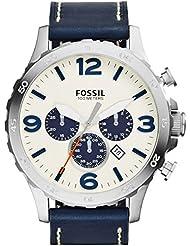 Fossil Herren-Armbanduhr Analog Quarz Leder JR1480