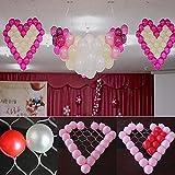 Supporto a rete per palloncini, a forma di cuore, con 38 spazi, ideale come decorazione per auto per matrimoni