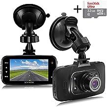 """Senwow Dash Cam Telecamera per Auto con Carta di 32GB Full HD 1080P 2,7"""" LCD Grandangolare di 120 Gradi Videocamera DVR G-Sensor Registrazione in Loop, Rilevatore di Movimento, Visione Notturna, WDR"""