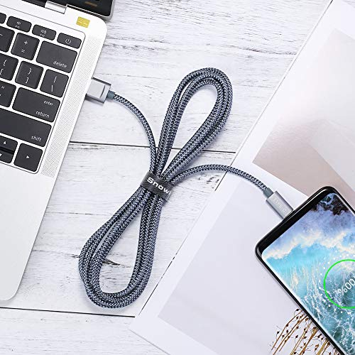 USB C Kabel Snowkids Nylon USB Type C Ladekabel [2 Stück 2 M] für Samsung Galaxy S8 plus/Note 8/A5 A3 2017,Google Pixel,Moto Z,LG G5 G6 V20, Huawei P9/P10/hornor8/9,Sony Xperia XZ, HTC 10/U11(Greu) - 3
