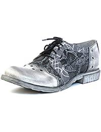 Simen - Zapatos de cordones de Piel Lisa para mujer gris gris