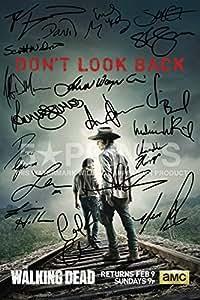 "The Walking Dead Poster Photo 12x8"" Signed PP by Andrew Lincoln Norman Reedus Danai Gurira Steven Yeun Melissa McBride Emily Kinney Chanlder Riggs Robert Kirkman Chad Coleman Michael Cudlitz"