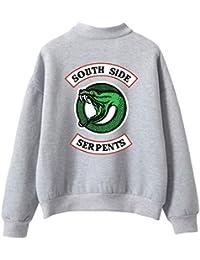dc8fdfb4f26f3e OLIPHEE Felpe Girocollo Felpe Sportive Maglione Vintage Collo Alto con Logo  Figata per Uomo e Ragazzi