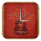 Horloge murale Nostalgique Guitare Nashville Tennessee Imprimee Plexiglas 25x25 cm