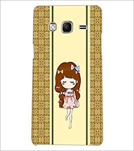 PrintDhaba Cute Girl D-2789 Back Case Cover for SAMSUNG Z3 (Multi-Coloured)