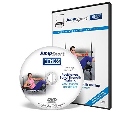 JumpSport Fitness Trampolin Workout DVDs - Kraft- und Widerstandstraining - Kettlebell und Flache Bänder erhältlich, VID-S-21607-00, weiß, 7.5x5x1