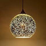 Moderne 3D Multicolor Kreative Glas Deckenleuchten Lampenschirm Kronleuchter Minimalistische Kunst Pendelleuchten (Style B)