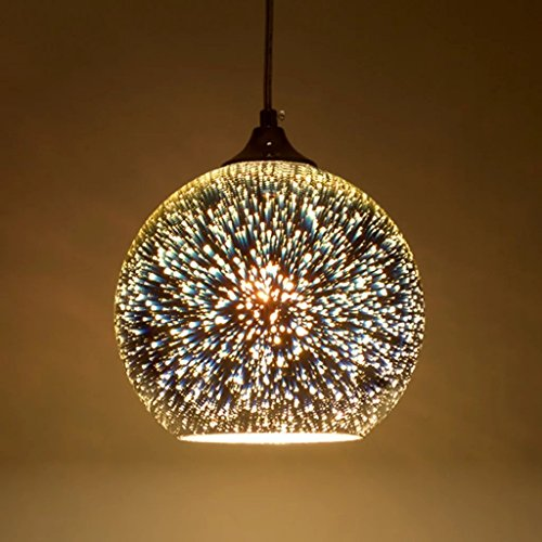Moderne 3D Multicolor Kreative Glas Deckenleuchten Lampenschirm Kronleuchter Minimalistische Kunst Pendelleuchten (Style B) -