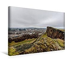 Calvendo Premium Textil-Leinwand 45 cm x 30 cm Quer, Calton Hill | Wandbild, Bild auf Keilrahmen, Fertigbild auf Echter Leinwand, Leinwanddruck Orte Orte